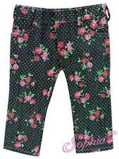 "BLACK FLORAL Denim Jeans fit 18"" American Girl Doll pants"