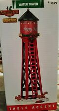 Lemax Coventry Cove Festive Happy Holidays Water Tower Christmas Village NEW