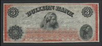 Bullion Bank, Washington DC, $3 July 1862, Haxby 170-G24a, Clean EF/AU Note