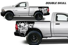 Vinyl Decal Double Skull Wrap Kit for Dodge Ram 09-14 1500/2500/3500 Matte Black