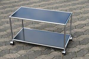 USM Haller Beistelltisch Tisch Regal RAL 9011 Schwarz  37x44x78cm