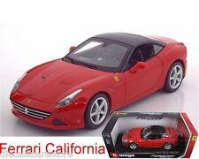 BBURAGO  FERRARI CALIFORNIA T CLOSED TOP RED 1/18 DIECAST CAR  18-16003RD