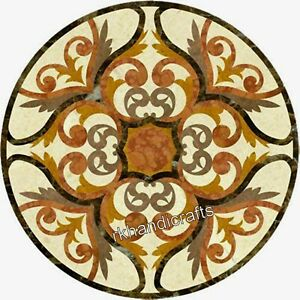 30 Inches Marble Kitchen Table Top Stone Coffee Table Marquetry Art from India