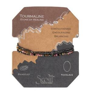 Scout Delicate TOURMALINE Stone of Healing BRACELET NECKLACE Jewelry Wrap SD011