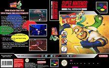 Earth WORM JIM 2 Super Nintendo SNES box-art di Sostituzione Caso Copertina Inserisci