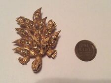 Cute Gold Tone Turtle Brooch Pin