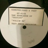 "SY-KICK - THE KNOWLEDGE EP 1992 UK  VINYL 12"" V.RARE RAVE CLASSIS  Mint UNPLAYED"