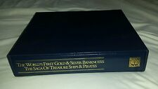 World's First Gold & Silver Banknotes Collector Binder with unsigned COA, extras
