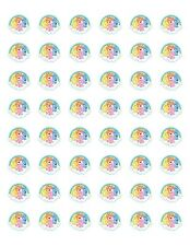 """48 CARE BEARS ENVELOPE SEALS LABELS STICKERS 1.2"""" ROUND"""
