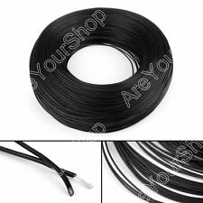 10M Black Flexible Stranded UL1007 22AWG Electronic Wire PVC Cable 300V ROHs B5