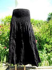 Belle Jupe longue à volants,100% coton,T34 au 42, hippie, nomade, rajasthan inde