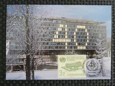 Lussemburgo MK ONU WHO MAXIMUM carta carte MAXIMUM CARD MC cm c1481