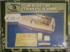 """SDKFZ 250/8 """"NEU"""" 7,5 cm kwk 37 (L/24) STUMMEL 1/35ème - ROYAL MODEL réf 224"""