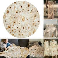 Burrito Pancake Wrap Blanket Flour Tortilla Swaddle Throw Sleeping Bedroom Home