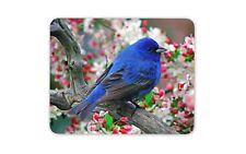 Indigo Bunting Bird Mouse Mat Pad - Blue Small Birds Garden Gift Computer #8889