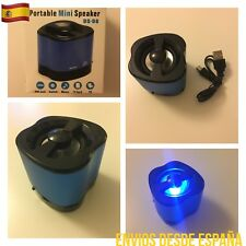 Altavoz MINI Luces Led Diseño 3W USB MICRO SD RADIO FM Portátil SÚPER PRECIO!!
