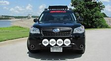 Fits 2016 Subaru Forester 2.5, XT RALLY LIGHT BAR,4 Light Mounting Tabs,BLACK PC