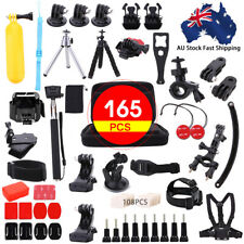 165pc For Gopro Accessories 6 5 4 3 2 HD Action Camera Sport Kit Pack Bundle