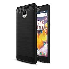 OnePlus 3 Cover Custodia Armatura Outdoor Silicone Gel Brushed + Pell. in Vetro