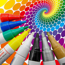 8 (Pcs) Colors Waterproof Permanent Paint Marker Pen Car Tyre Tire Rubber Metal