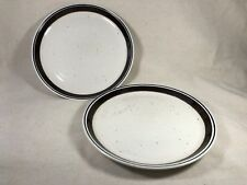 "2 Johnson Brothers Table Plus Stoneware Dinner Plates 10 1/2"" Speckled England"