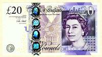 GREAT BRITAIN 20 POUNDS UNC BANKNOTE - 2015 - PICK #392c CLELAND sign. --- [115]