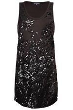 FRENCH CONNECTION FCUK MOONDUST SEQUIN VEST DRESS UK 8 RRP £65 NWT