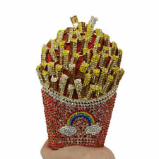 French fries with women's crystal Evening Bag Wedding handbag