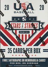 2020 Panini USA Stars & Stripes Baseball sealed blaster box 7 packs 5 cards