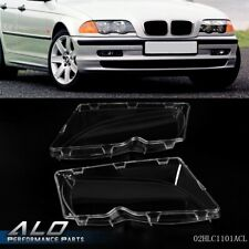 Left & Right Side Headlight Lens Cover For 2002-2006 Bmw E46 3 Series 4-Door (Fits: Bmw)
