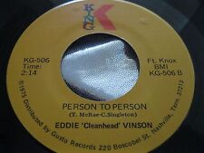 Blues 45 : Eddie Cleanhead Vinson ~ Person To Person ~ Cherry Red ~ King KG 506