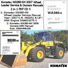 Komatsu WA380-6H 2007 Wheel Loader Service Manual  Workshop Repair 2 in1 PDF CD