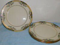 """4 Lenox The Orchard Dinner Plates 10.5"""" Excellent Cond."""