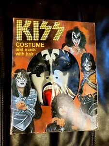 KISS Gene Simmons mask with hair costume halloween collegeville Aucoin