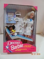 1997 Talking Dentist Barbie Doll w/ Patient #17255 Complete Mattel New NIB