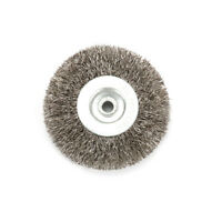 3 Inch 6mm Arbor Stainless Steel Wire Wheel Brush For Bench Grinder Abrasive New