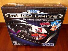 Consola Megadrive, En Caja, Con 2 Cartuchos De Juegos