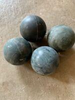 "Mixed batch of 4 WHAM-O SUPER BALLS 1965 good condition superballs 1-15/16"" NOS"