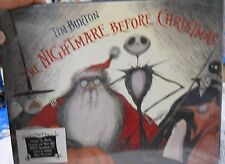 New Disney Nightmare Before Christmas Illustrated Hardback Book Size 1 With Cd