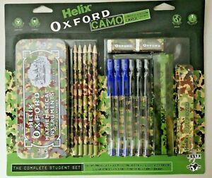 Helix Oxford Limited Edition Camo Bulk School Stationery Set - Green - NEW