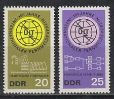 DDR East Germany 1965 ** mi.1113/14 telecomunicaciones Unión ITU telecommunications