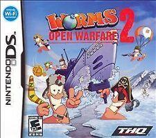 Worms Open Warfare 2 (Nintendo DS) Lite DSi XL 2DS 3DS w/Case & Manual