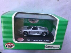 Model Power Mini Ho Scale 1:87 Porsche Carrera GT 2003 Model # 19350 No Reserve!