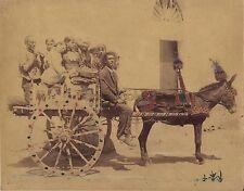 Italie Italia Carriole Vintage albumine ca 1880