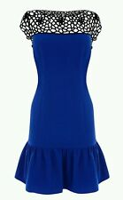 BNWT * COAST * 10 (UK) MUSE DRESS, BLUE BLACK CROCHET,COCKTAIL PARTY DRESS, £125