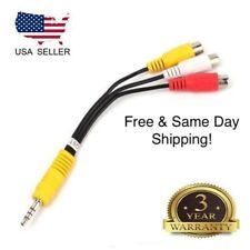 3.5mm AV Male to 3RCA Female M/F Audio Video Stereo Jack Adapter Cord Cable