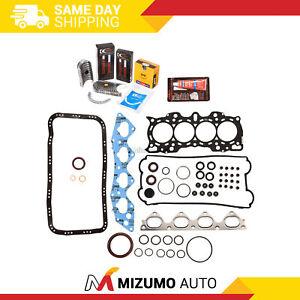 Full Gasket Set Bearings Rings Fit 97-01 Honda CR-V 2.0 DOHC B20B4 B20Z2
