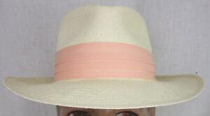 New Handmade VS Custom Hats by Art Fawcett Cuenca Panama Hat size 7 1/8