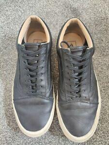Men's Vans Black Leather Trainers Size 9