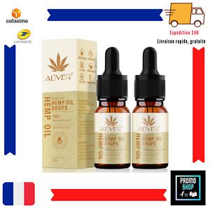 2X Huile De Chanvre Biologique 30% (3000 Mg) Améliorer Sommeil Stress Goutte FR
